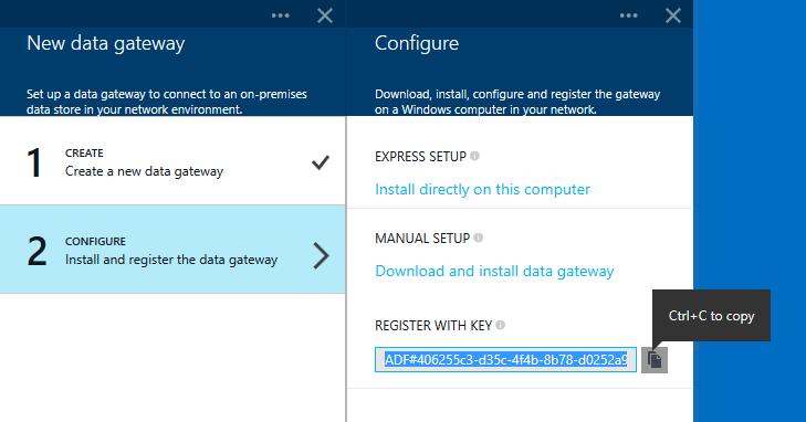 configure data management gateway from azure portal reza rad 39 s technical blog. Black Bedroom Furniture Sets. Home Design Ideas